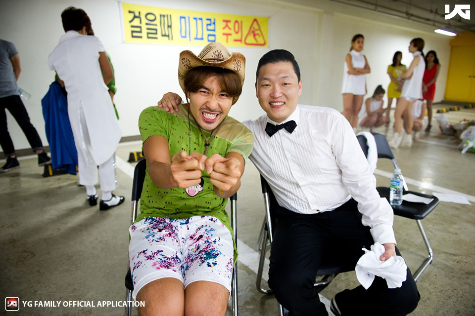 PSY and elevator guy ... so hilarious. check out the Korean group big bang - meme