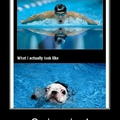 Swimming...