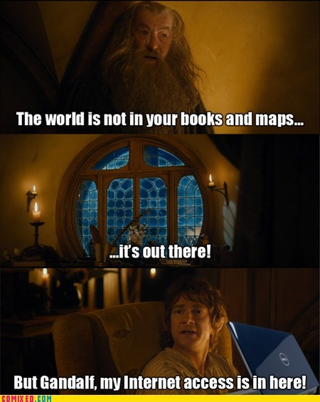 The Lonely Mountain may have WiFi - meme