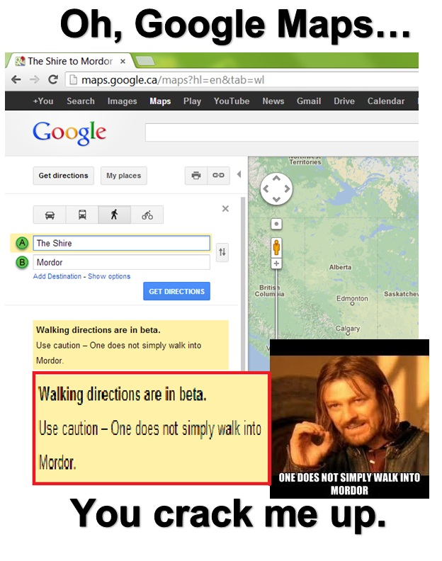 One does not simply walk into Mordor! - meme