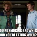 Smoking dose brownies