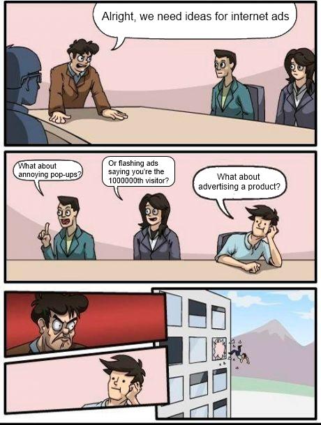 Internet ads - meme