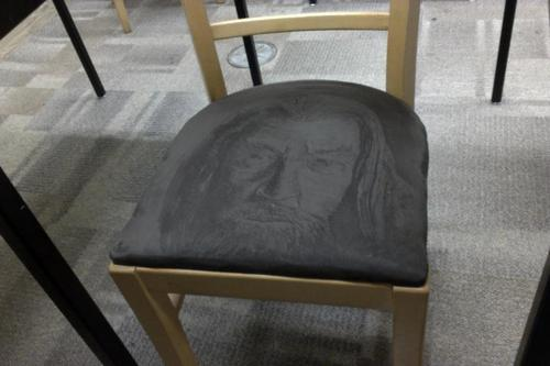 Someone Drew Gandalf On This Suede Chair   Meme