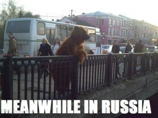 Just another day in Russia - meme